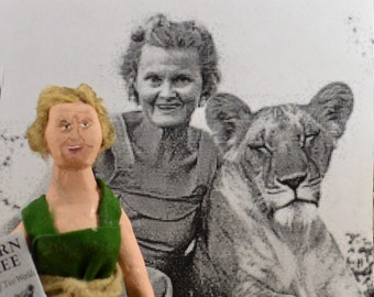 Joy Adamson Author of Born Free Naturalist and Artist Art Doll Miniature