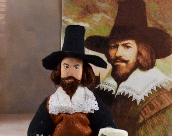 Guy Fawkes-  Historical Character-  Hand Made Art -Doll Miniature