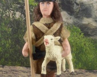 Shepherd Miniature Doll Art Character Sheep Herder