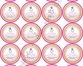 """INSTANT DOWNLOAD / Last Fling Before the Ring Bachelorette Party Weekend 2"""" printable Party / Cupcake Topper / Stickers / Thank You Tag"""