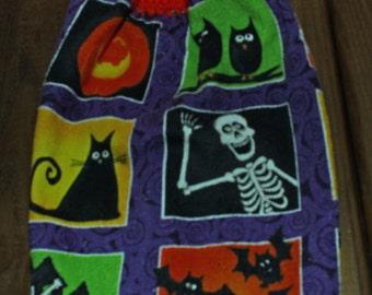 Halloween WIndows Crochet Top Hanging Kitchen or Bath Towel