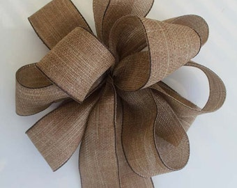 Fall bow for wreaths, Burlap fall bow, Autumn decor, fall decoration, holiday bows, fall bows,Thanksgiving decoration, fall wreath bow