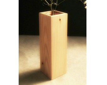 Recycled Wood Vase, Home Decor
