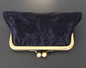1 Large Picture Bridesmaids Gifts - Black Lace over Black Clutch for Sara