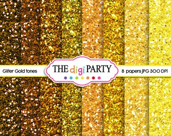 Glitter Digital Paper gold Background Glitter Paper Texture Glitter Sparkle Paper commercial use instant download