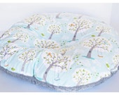 NEWBORN LOUNGER BOPPY Cover  / Zipper closure  / Backyard baby cotton print with soft  white minky dimples