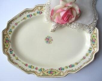 Vintage Floral Serving Platter - Shabby Sweet