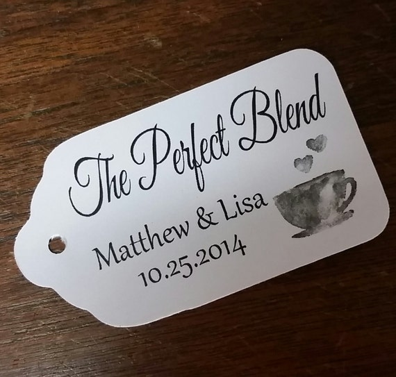 The Perfect Blend Tea Cup 100 MEDIUM Personalized Favor Tag