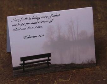 Faith in the Fog Notecard