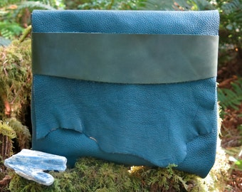 Teal Light Traveler Eco Leather Clutch