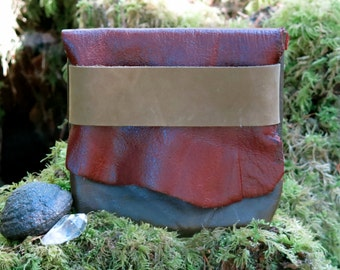 Forest Rose Light Traveler Eco Leather Pouch