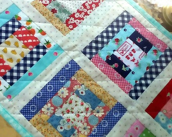 Vintage Style Runner Cute Table Runner Cheery Table Topper Cottage Quilt Table Mat Patchwork Table Mat Vintage Style Quilt Vintage Kitchen