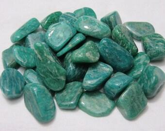 2 Dark Amazonite Healing Stone Healing Crystal Reiki Soothing Chakra Energy Meditation lot a