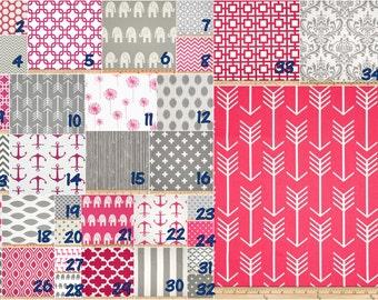 Basics Grey and hot pink   -   Crib bedding set -  Design your own 3 pcs. SET Custom crib Bedding