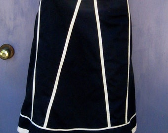 black and white Skirt . skirt . white piping skirt . odille skirt