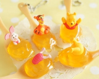 1pc Winnie the Pooh Honey charm (((Choose Number from 5th pic))) AZ173