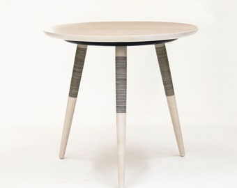 Tebori Table - Bleached Maple Side Table - Tripod side table - Bedside table