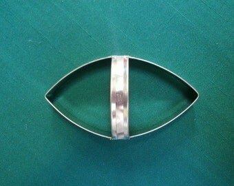 """Football 4"""" Cookie Cutter Tin with Custom Handle By West Tinworks"""