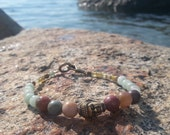 Buddha Jasper, Jade and Stone Beaded Bracelet