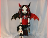 Hand Stitched Fairy Rag Doll Creepy Gothic Folk Art By Jodi Cain Tattered Rags