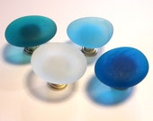 Two Beach Glass Knobs Sea Decor Cabinet Knobs Drawer Pulls