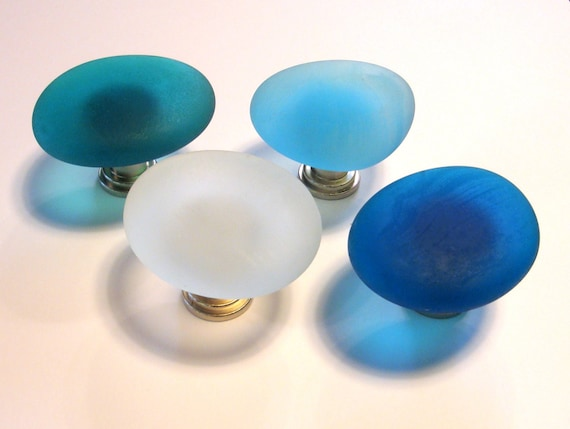 Beach Glass Knobs Sea Decor Cabinet Knobs Drawer By