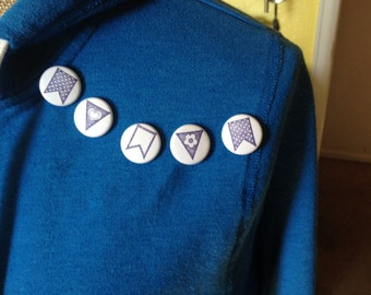 """bunting 1"""" buttons"""