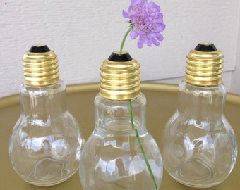 light bulb vase etsy fr. Black Bedroom Furniture Sets. Home Design Ideas