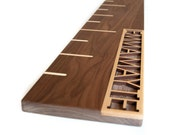 Personalized Walnut Growth Chart Ruler