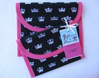 Royalty Reusable Lunch Bag Set of 2 - Snack and Sandwich Size