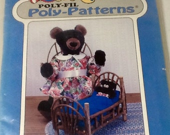 Momma and Baby Bear  Doll  Stuffed Animal Pattern  Uncut.