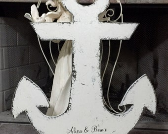 "ANCHOR WEDDING GUESTBOOK | Personalized | 26"" tall 
