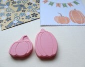 Pumpkin - Hand Carved Rubber Stamp