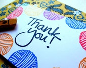 Thank You - Hand Carved Rubber Stamp