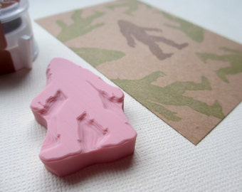 Bigfoot - Hand Carved Rubber Stamps