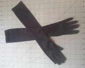 Girl's Halloween Costume long fitted Black gloves toddler will fit 2t 3t 4t 5t 6 7 slim