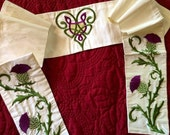 Reserved Listing for Stephaine - Celtic Wedding Collection - Thistles (Large) Border & Center Design - MADE TO ORDER