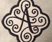 Iron On/Sew On Monogram Applique Patch