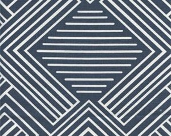 Premier Prints PHASE Navy and White Fabric - Yardage