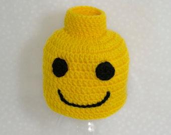 Lego Man Hat, Lego costume, Lego Head