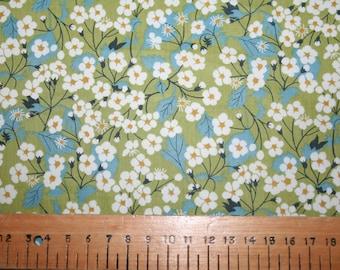 """Liberty Tana Lawn """"MITSI"""" green 20 x 20cm (8 x 8"""")"""