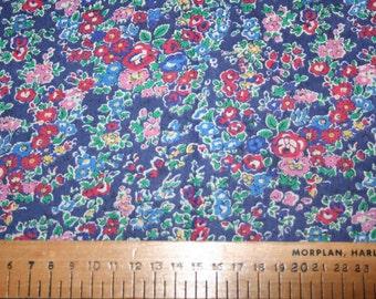"""Liberty Tana Lawn """"TATUM"""" blue/red 20 x 20cm (8 x 8"""")"""