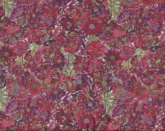 "Liberty Tana Lawn WILLOW ROSE pink/red 20 x 20cm (8"" x 8"") piece"