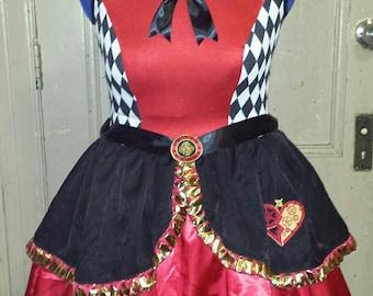 Lolita babydoll queen of hearts cosplay dress