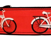 """Bicycles On Red 2"""" Martingale Collar-"""