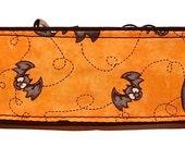 "Halloween Bats on Orange 2"" Martingale Collar-"