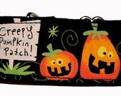 "Creepy Pumpkin Patch 2"" Martingale Collar-"