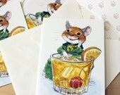 Merry Mouse. Vintage 1980s party invitations.