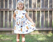 Custom Kitties Sweetheart Dress - Size 2T-6