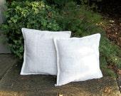 Set White Burlap Pillows CUSTOM Sizes 2  WHITE Burlap Pillows Decorative Pillows French Country Farmhouse Burlap Throw Pillows Custom Sizes